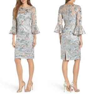 Eliza J Floral Embroidered Sheath Dress in Size 6
